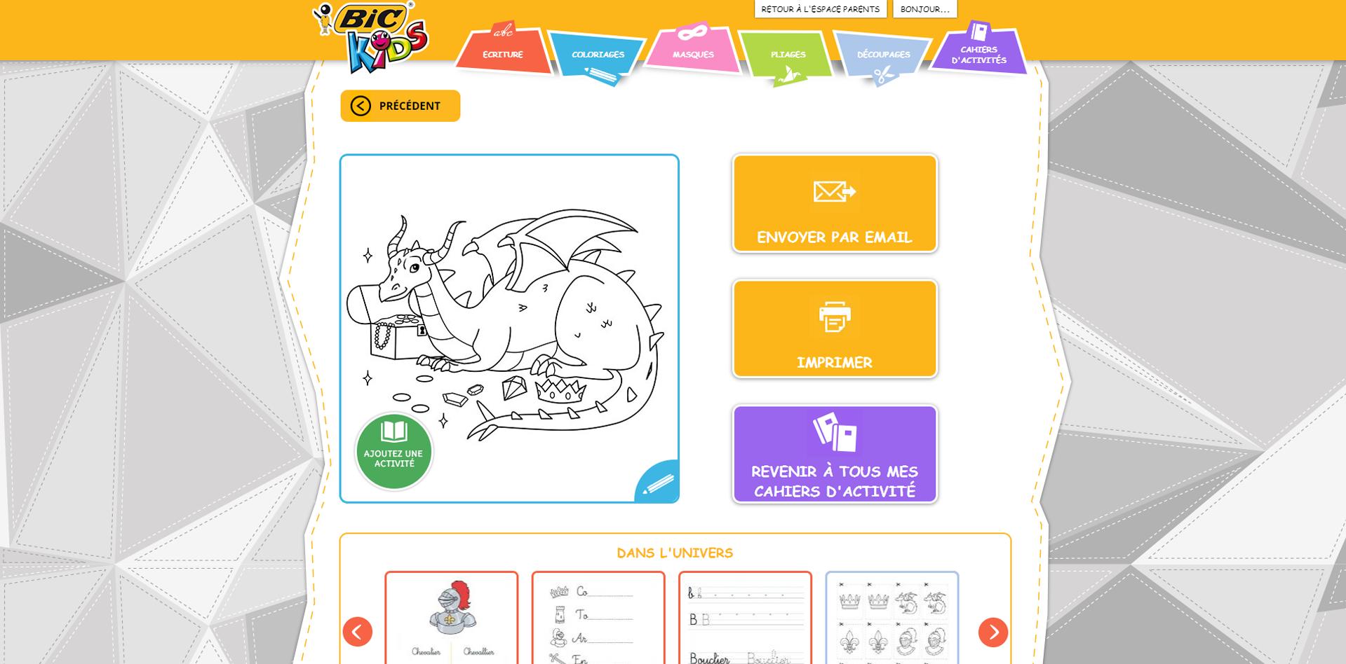 Site BIC KIDS - Agence F+